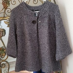 AB Studio gray Two button cardigan